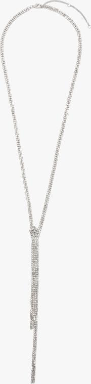 Sparkle Crystal Long Lariat Necklace