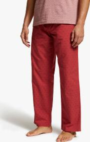 Spot Brushed Cotton Oxford Pyjama Pants
