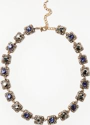 Square Glass Crystal Collar Necklace