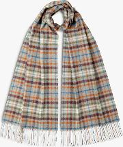 Check Cashmere Oversized Scarf