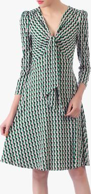 Tie Front Sleeved Dress