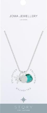 Enlighten Star And Crystal Pendant Necklace