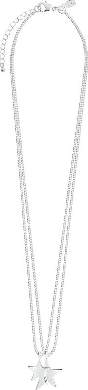 Karli Double Strand Star Pendant Necklace