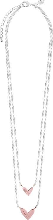 Love Life Layered Heart Necklace