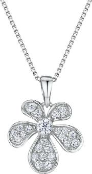 Cubic Zirconia Abstract Bloom Necklace