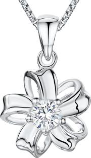 Cubic Zirconia Looped Bloom Necklace