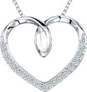 Cubic Zirconia Looped Heart Necklace