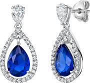 Cubic Zirconia Teardrop Drop Earrings