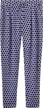 Anice Printed Trousers, Blue Spot