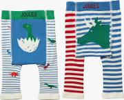 Baby Joule Lively Legs Dinosaur Leggings, Pack Of 2