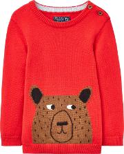 Baby Joule Young Chrissie Bear Long Sleeve Jumper
