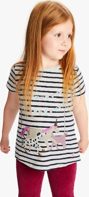 Little Joule Girls' Astra Animals Print Top