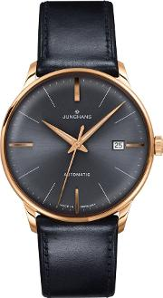 0277513.00 Men's Meister Automatic Date Leather Strap Watch