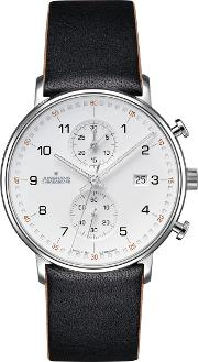 0414771.00 Men's Form Chronograph Date Leather Strap Watch