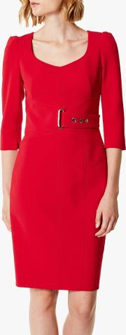 Corsetry Belted Wrap Dress