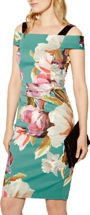 Painterly Floral Print Dress