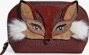 So Foxy Fox Abalene Leather Small Wash Bag