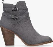 Spike 2 Block Heeled Ankle Boots