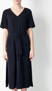 Utility Belted Dress, Navy