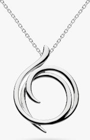 Sterling Silver Helix Wrap Pendant Necklace