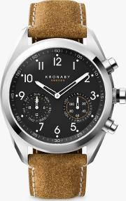 Connected A1000 3112 Men's Apex Leather Strap Smartwatch