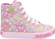 Children's Shining Butterfly High Top Trainers
