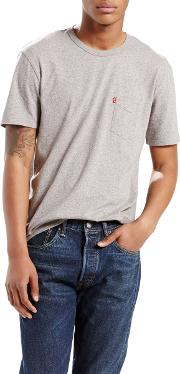 One Pocket Crew Neck T Shirt