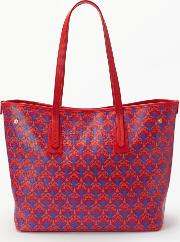 Iphis Print Canvas Marlborough Tote Bag