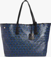 Iphis Print Large Canvas Marlborough Tote Bag