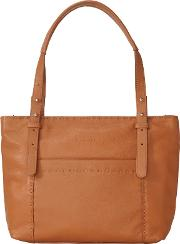 Harrison Heavy Stitch Leather Hobo Bag