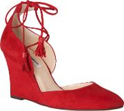 L.k. Bennett Leticia Tie Wedge Heeled Court Shoes