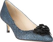 L.k. Bennett Portia Flower Pointed Toe Court Shoes
