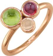 9ct Gold 3 Stone Bubble Cocktail Ring
