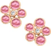 9ct Gold Cabochon Diamond Stud Earrings