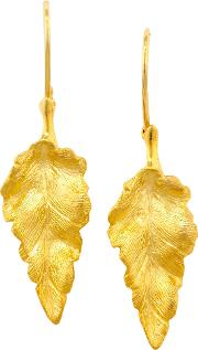 9ct Yellow Gold Leaf Earrings