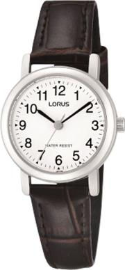 Rrs57ux9 Women's Leather Strap Watch