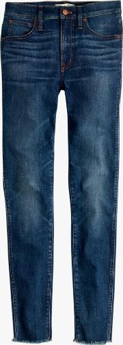 9 High Rise Raw Hem Skinny Jeans