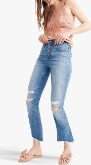 Cali Demi Boot Button Front Jeans