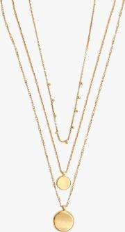 Coin Layered Pendant Necklace Set