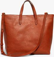 Leather Transport Zip Top Carryall Tote Bag