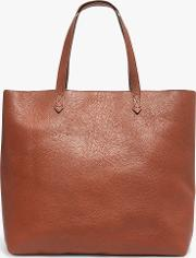 Leather Transport Zip Top Tote Bag