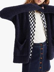 Solid Boucle Cardigan