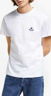 Shark Embroidered T Shirt