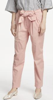 Paperbag Tapered Leg Trousers