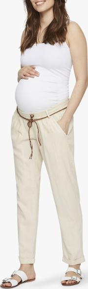 Beach Belted Maternity Trousers