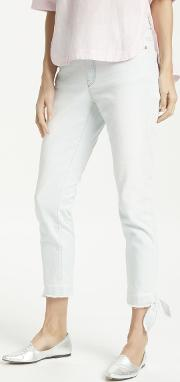 Cropped Ankle Tie Jeans