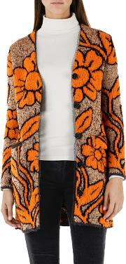 Jacquard Knitted Cardigan