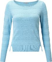 Gea Ribbed Jumper, Turquoise