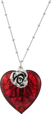 Bohemian Glass Heart Pendant Necklace