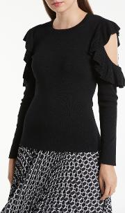 Cold Shoulder Frill Jumper
